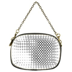 Polka Circle Round Black White Hole Chain Purses (one Side)  by Mariart