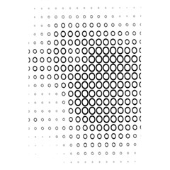 Polka Circle Round Black White Hole 5 5  X 8 5  Notebooks by Mariart