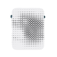 Polka Circle Round Black White Hole Apple Ipad 2/3/4 Protective Soft Cases by Mariart