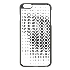 Polka Circle Round Black White Hole Apple Iphone 6 Plus/6s Plus Black Enamel Case by Mariart