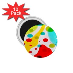 Polkadot Color Rainbow Red Blue Yellow Green 1 75  Magnets (10 Pack)  by Mariart