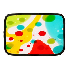 Polkadot Color Rainbow Red Blue Yellow Green Netbook Case (medium)  by Mariart