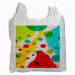 Polkadot Color Rainbow Red Blue Yellow Green Recycle Bag (two Side)  by Mariart
