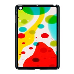 Polkadot Color Rainbow Red Blue Yellow Green Apple Ipad Mini Case (black) by Mariart