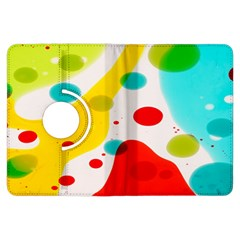 Polkadot Color Rainbow Red Blue Yellow Green Kindle Fire Hdx Flip 360 Case by Mariart