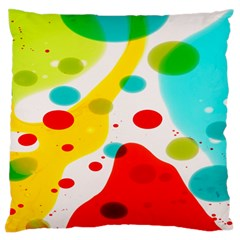 Polkadot Color Rainbow Red Blue Yellow Green Large Flano Cushion Case (one Side) by Mariart