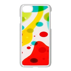 Polkadot Color Rainbow Red Blue Yellow Green Apple Iphone 7 Seamless Case (white) by Mariart