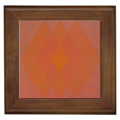 Live Three Term Side Card Orange Pink Polka Dot Chevron Wave Framed Tiles by Mariart