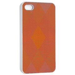 Live Three Term Side Card Orange Pink Polka Dot Chevron Wave Apple Iphone 4/4s Seamless Case (white) by Mariart
