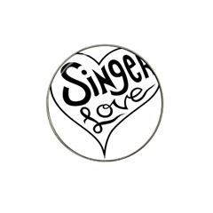 Singer Love Sign Heart Hat Clip Ball Marker (10 Pack)