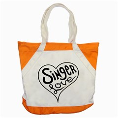 Singer Love Sign Heart Accent Tote Bag by Mariart