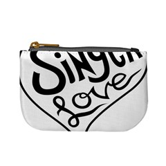 Singer Love Sign Heart Mini Coin Purses by Mariart