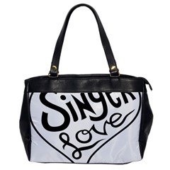 Singer Love Sign Heart Office Handbags by Mariart