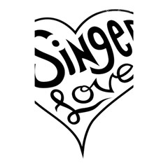 Singer Love Sign Heart Shower Curtain 48  X 72  (small)  by Mariart