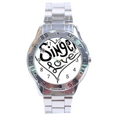 Singer Love Sign Heart Stainless Steel Analogue Watch by Mariart