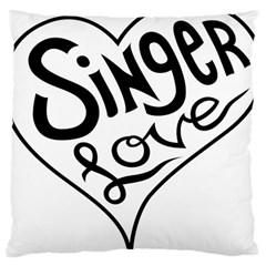 Singer Love Sign Heart Large Cushion Case (two Sides) by Mariart