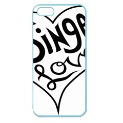 Singer Love Sign Heart Apple Seamless Iphone 5 Case (color) by Mariart