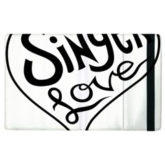 Singer Love Sign Heart Apple Ipad 2 Flip Case by Mariart