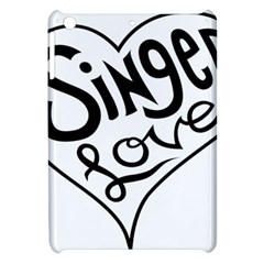 Singer Love Sign Heart Apple Ipad Mini Hardshell Case by Mariart