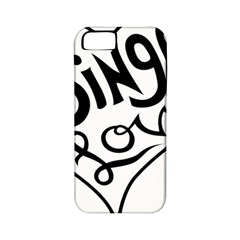 Singer Love Sign Heart Apple Iphone 5 Classic Hardshell Case (pc+silicone) by Mariart