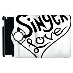 Singer Love Sign Heart Apple Ipad 2 Flip 360 Case by Mariart