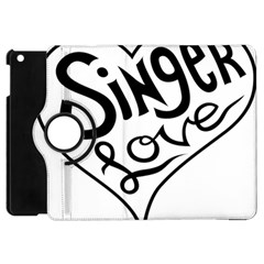 Singer Love Sign Heart Apple Ipad Mini Flip 360 Case by Mariart