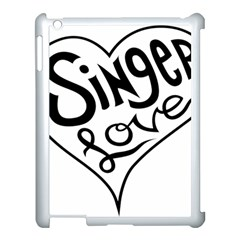 Singer Love Sign Heart Apple Ipad 3/4 Case (white) by Mariart