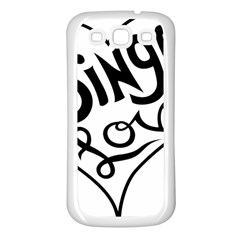 Singer Love Sign Heart Samsung Galaxy S3 Back Case (white) by Mariart