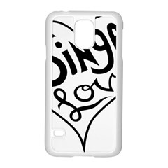 Singer Love Sign Heart Samsung Galaxy S5 Case (white) by Mariart