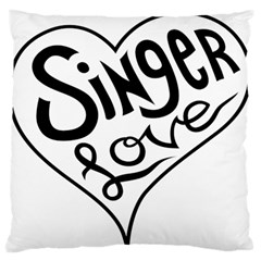 Singer Love Sign Heart Standard Flano Cushion Case (one Side) by Mariart