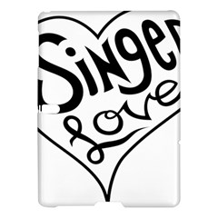 Singer Love Sign Heart Samsung Galaxy Tab S (10 5 ) Hardshell Case  by Mariart