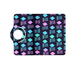 Polkadot Plaid Circle Line Pink Purple Blue Kindle Fire Hd (2013) Flip 360 Case by Mariart