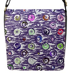 Painted Circles           Flap Closure Messenger Bag (s) by LalyLauraFLM