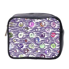 Painted Circles           Mini Toiletries Bag (two Sides) by LalyLauraFLM