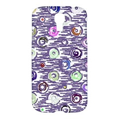 Painted Circles     Apple Ipad 3/4 Woven Pattern Leather Folio Case by LalyLauraFLM