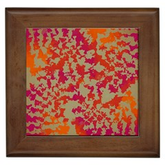 Spots            Framed Tile by LalyLauraFLM