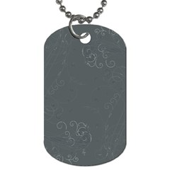 Floral Design Dog Tag (two Sides) by ValentinaDesign