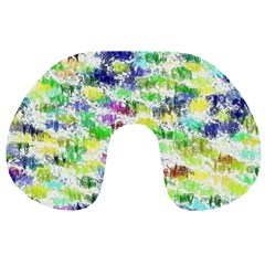 Paint On A White Background           Travel Neck Pillow by LalyLauraFLM