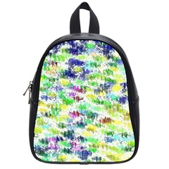 Paint On A White Background           School Bag (small) by LalyLauraFLM