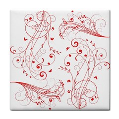 Floral Design Tile Coasters