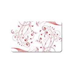 Floral Design Magnet (name Card)