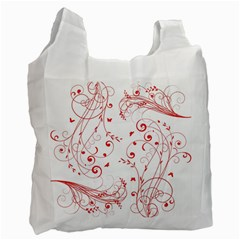 Floral Design Recycle Bag (one Side)
