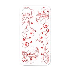 Floral Design Apple Iphone 4 Case (white) by ValentinaDesign