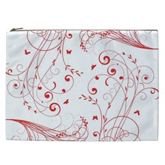 Floral Design Cosmetic Bag (xxl)  by ValentinaDesign
