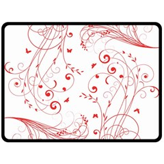 Floral Design Double Sided Fleece Blanket (large)  by ValentinaDesign