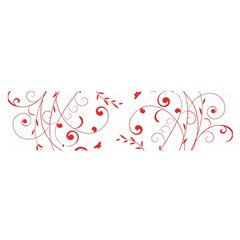 Floral Design Satin Scarf (oblong)