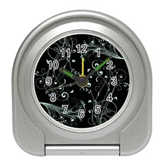 Floral Design Travel Alarm Clocks by ValentinaDesign