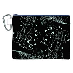 Floral Design Canvas Cosmetic Bag (xxl) by ValentinaDesign