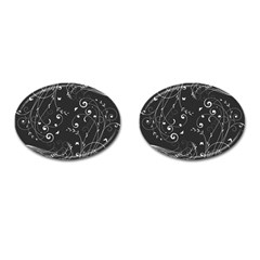 Floral Design Cufflinks (oval)