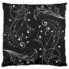 Floral Design Large Cushion Case (two Sides) by ValentinaDesign